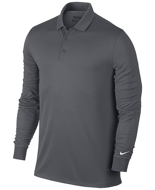 9e5830f3c9 Nike Men's Victory Dri-FIT Long-Sleeve Golf Polo & Reviews - Polos ...