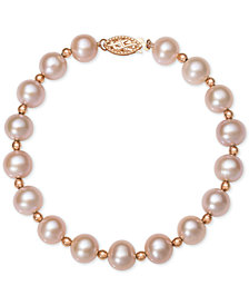 Belle De Mer Pink Or White Cultured Freshwater Pearl 7 1 2mm