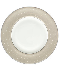 Monique Lhuillier Waterford Dinnerware, Etoile Platinum Tan Accent Plate
