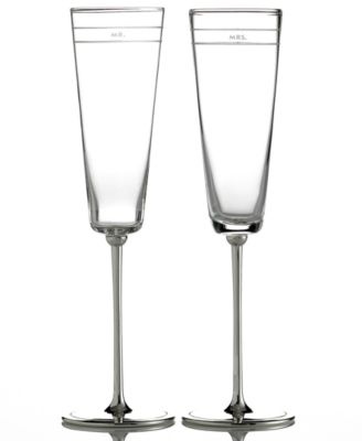 new york Set of 2 Darling Point Toasting Flutes