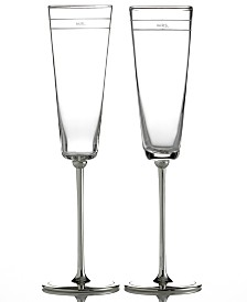 kate spade new york Set of 2 Darling Point Toasting Flutes