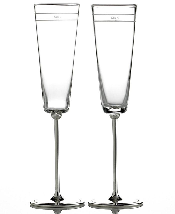 "Kate Spade - ""Darling Point"" Champagne Flutes, Set of 2"