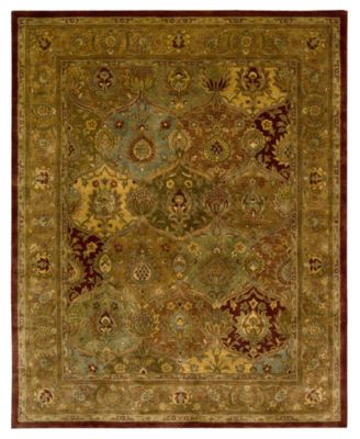"Area Rug, Rajah JA25 Dark Panel Multi 8' 3"" x 11' 6"""
