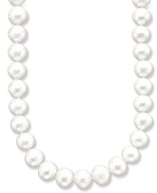 "Belle de Mer AA 18"" Cultured Freshwater Pearl Strand Necklace (9-1/2-10-1/2mm) in 14k Gold"