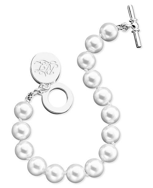 Lauren Ralph Lauren Glass Pearl Toggle Bracelet (10 mm)