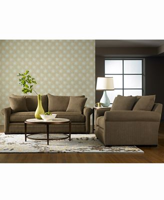 dial fabric sofa living room furniture collection - furniture - macy's
