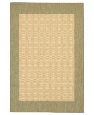 "CLOSEOUT! Area Rug, Recife Indoor/Outdoor 1005/5005 Checkered Field Natural-Green 8' 6"" x 13'"