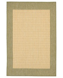 CLOSEOUT! Couristan Rugs, Recife Indoor/Outdoor 1005/5005 Checkered Field Natural-Green