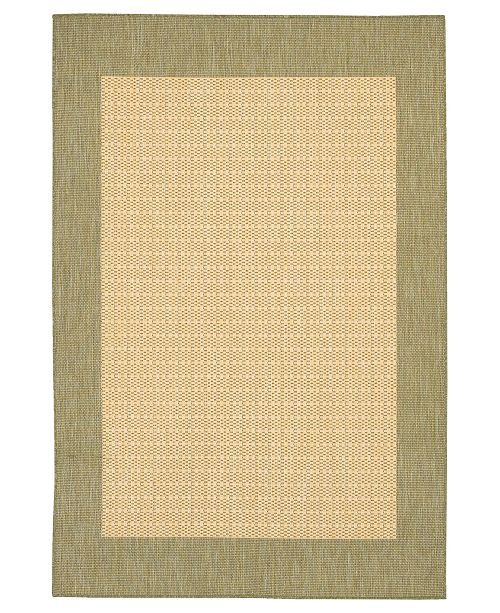 CLOSEOUT! Rugs, Recife Indoor/Outdoor 1005/5005 Checkered Field Natural-Green
