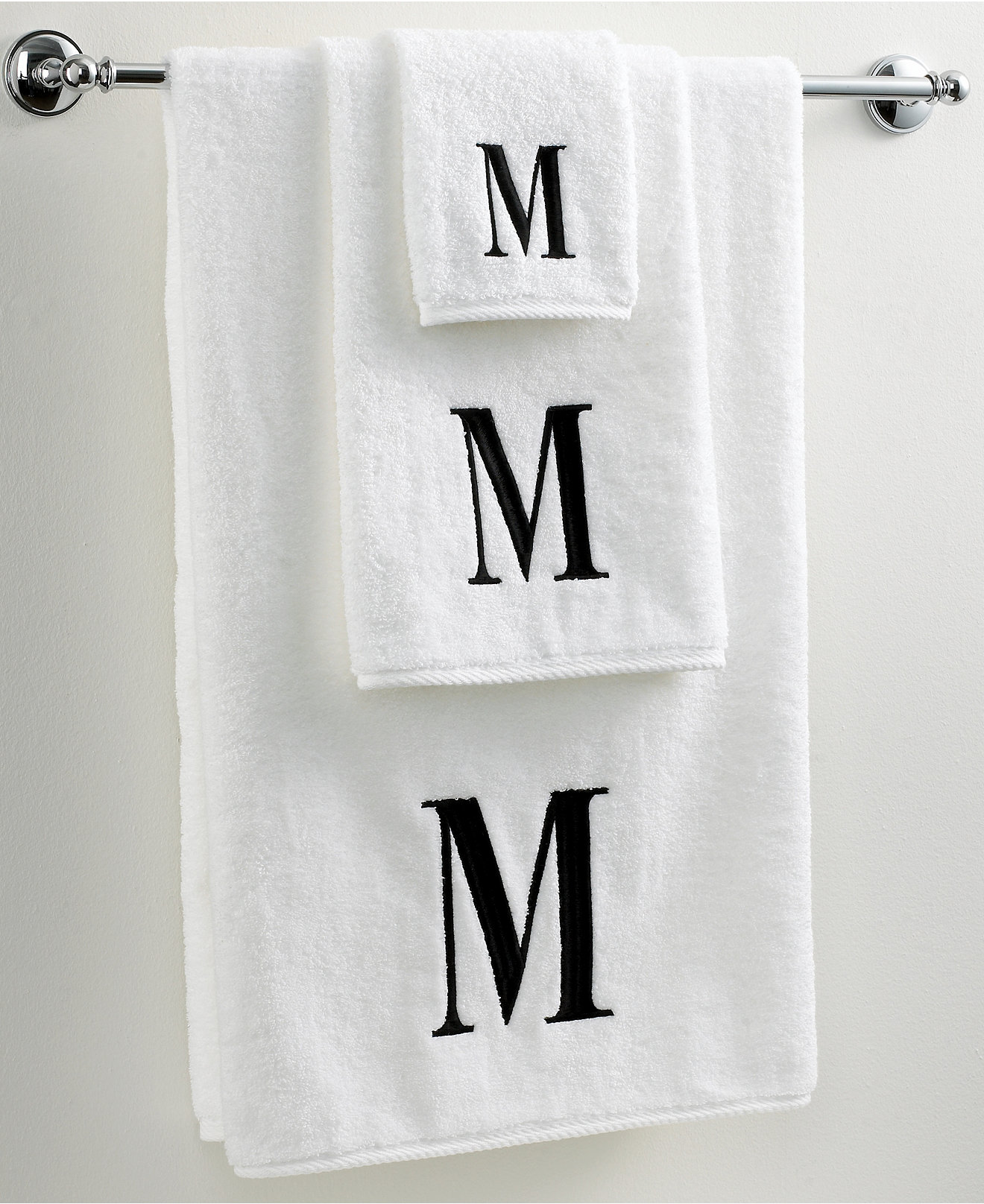 White apron macy's - Avanti Bath Towels Initial Black And White Collection