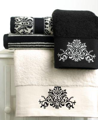 Black And White Bathroom Towels Bianca