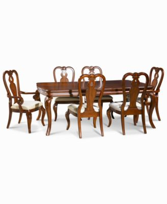 Bordeaux 7-Piece Dining Room Furniture Set Created for Macy\u0027s (Dining Table 2 Queen Anne Arm Chairs \u0026 4 Queen Anne Side Chairs)  sc 1 st  Macy\u0027s : 7 piece dining table set - pezcame.com