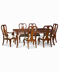 Bordeaux 7-Piece Dining Room Furniture Set, Created for Macy's,   (Dining Table, 2 Queen Anne Arm Chairs & 4 Queen Anne Side Chairs)