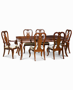 Bordeaux 7 Piece Dining Room Furniture Set Created For Macys Table 2 Queen Anne Arm Chairs 4 Side