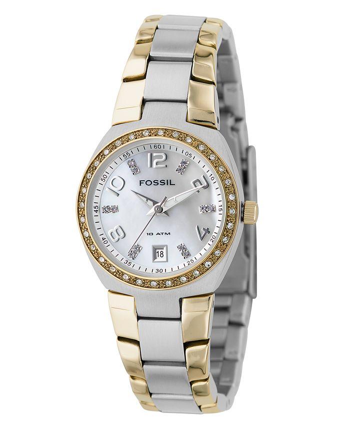 Fossil - Women's Two Tone Stainless Steel Bracelet Watch AM4183