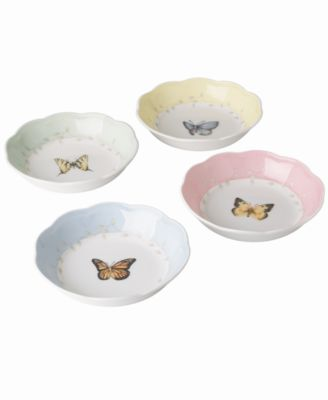 """""""Butterfly Meadow"""" Fruit Dishes, Set of 4"""