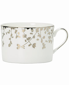 kate spade new york Gardner Street Platinum Teacup