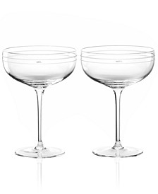 Darling Point Champagne Saucer Pair