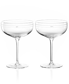kate spade new york Darling Point Champagne Saucer Pair