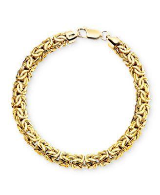 14k Gold Byzantine Bracelet Bracelets Jewelry Watches Macys