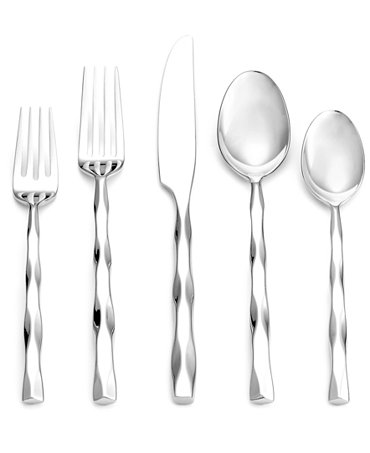 Yamazaki cable stainless flatware collection flatware silverware dining entertaining - Yamazaki stainless steel flatware ...