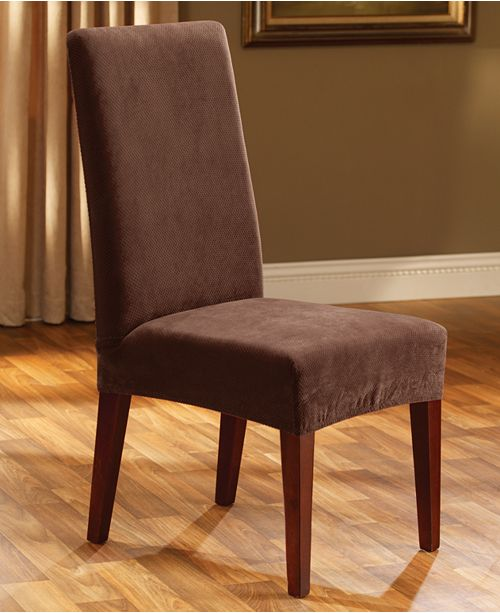 Phenomenal Sure Fit Stretch Pique Short Dining Room Chair Slipcover Uwap Interior Chair Design Uwaporg