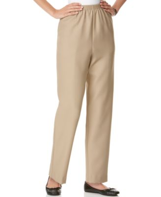 Image of Alfred Dunner Petite Pull-On Straight-Leg Pants