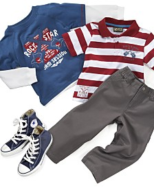 Nannette Little Boy 3-Piece Rock Star Set and Converse Shoes