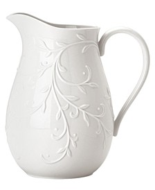 Dinnerware, Opal Innocence Carved Pitcher