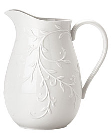 Lenox Dinnerware, Opal Innocence Carved Pitcher