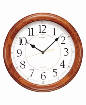 Seiko Wooden Wall Clock QXA129BLH