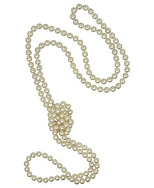 Pearl Necklace, Organic Man-Made Pearl Endless Rope