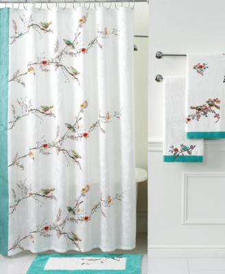 lenox simply fine bath accessories chirp shower curtain bathroom accessories bed u0026 bath macyu0027s