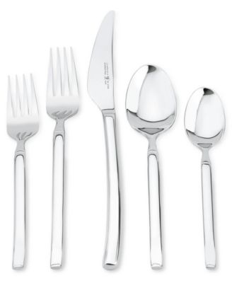zwilling twin brand opus stainless steel 45pc flatware set service for 8 - Stainless Steel Flatware