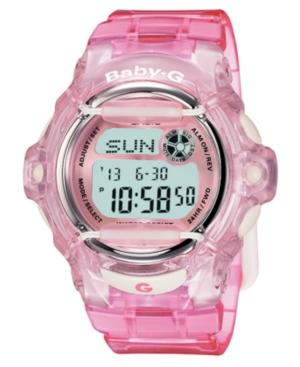 Baby-g Watch, Women's Red Resin Strap BG169R-4