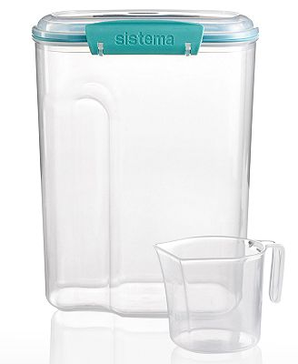 Martha Stewart Collection 110-Oz. Storage Container with 1-Cup ...