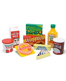 Melissa and Doug Toy, Wooden Fridge Food Set