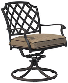 CLOSEOUT! Grove Hill Cast Aluminum Outdoor Dining Swivel Rocker