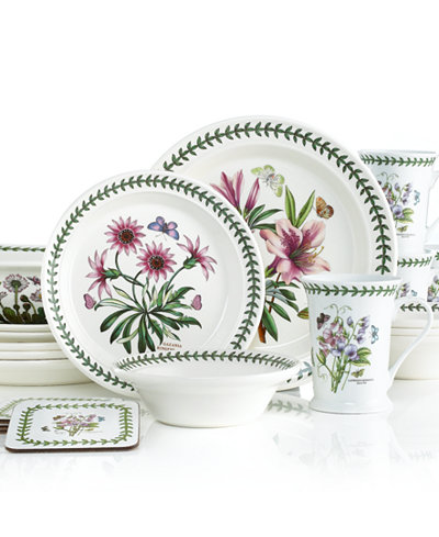 Portmeirion Botanic Garden 21 Piece Set Service For 4 Dinnerware Dining Entertaining Macy 39 S