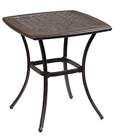 "Cast Aluminum 26"" Square Outdoor Cafe Table, Created for Macy's"