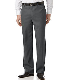 Perry Ellis Portfolio Classic Fit Flat Front Sharkskin Men's Dress Pants