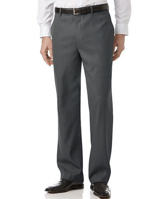 Perry Ellis Portfolio Classic Fit Sharkskin Flat Front Dress Pants ...