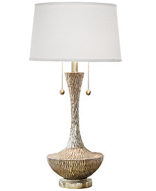 Regina Andrew Design Embossed Silver Vessel Table Lamp