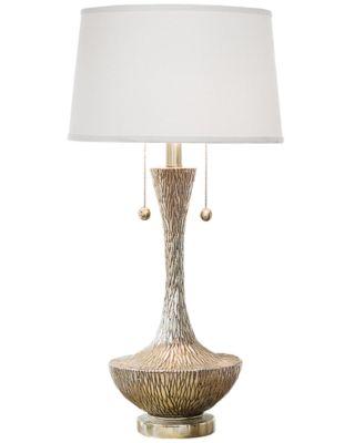Regina Andrew Design Embossed Silver Vessel Table Lamp