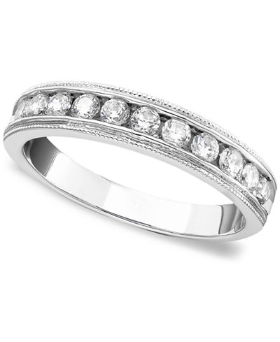 Diamond Band Ring in 14k White Gold (1/2 ct. t.w.)