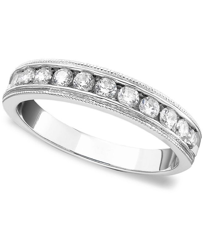 Macy's Diamond Band Ring (1/2 ct. t.w.) in 14k White Gold