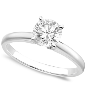 4daca76c4d9f5 Engagement Ring, Certified Colorless Diamond (1 ct. t.w.) and 18k White  Gold - White Gold
