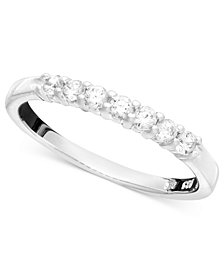 Seven Diamond Band Ring in 14k Yellow or White Gold (1/4 ct. t.w.)