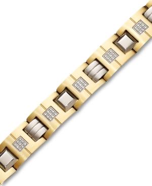 Men's Stainless Steel Bracelet, Diamond Link (1/2 ct. t.w.)