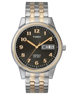 timex s two tone stainless steel bracelet 35mm